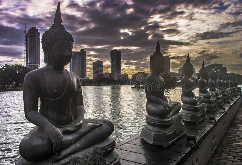Tempio Colombo Sri Lanka di Gangaramaya immagine stock libera da diritti