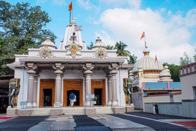 Tempio dei swami di Shree Nityanand, Ganeshpuri, Thane, Bhiwandi immagine stock