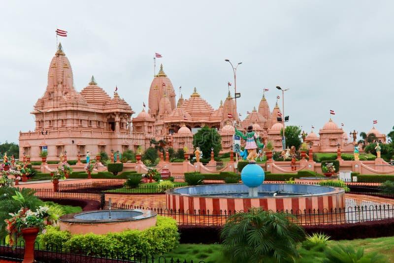 Tempio del dham di Poicha Swaminarayan - India immagini stock