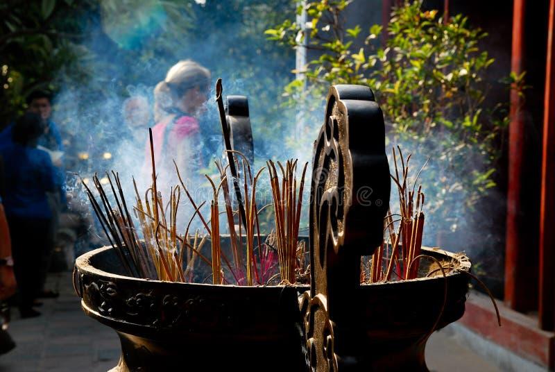 Tempio del figlio di Ngoc, Hanoi, Vietnam fotografie stock