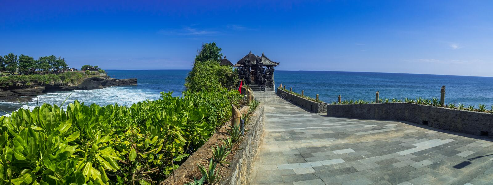 Tempio del lotto di Tanah in Bali Indonesia fotografia stock