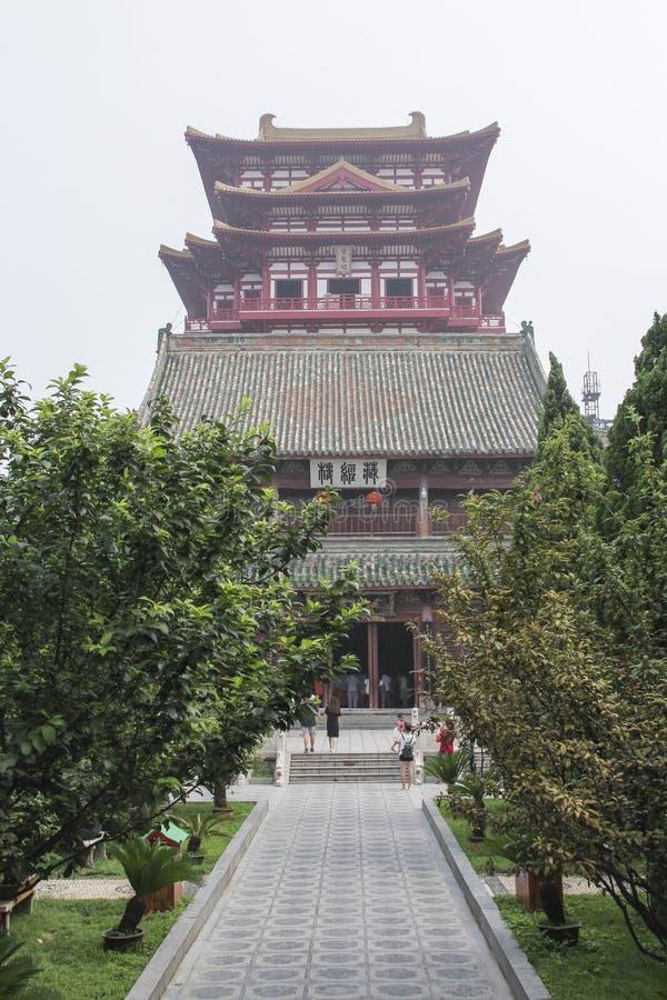 Tempio del ministro principale nella città di Kai-Feng, Cina centrale immagini stock