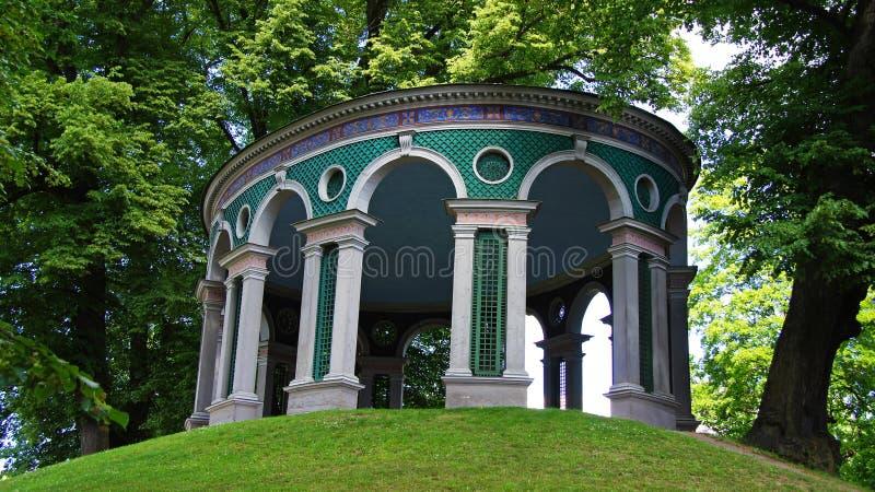 Tempio del parco di Haga dell'eco a Stoccolma fotografia stock