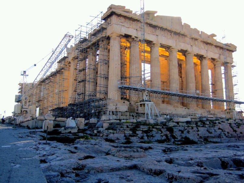 Tempio del Partenone, acropoli fotografia stock