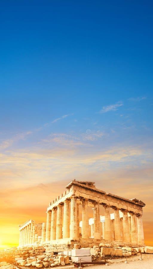 Tempio del Partenone, l'acropoli a Atene, Grecia fotografia stock libera da diritti