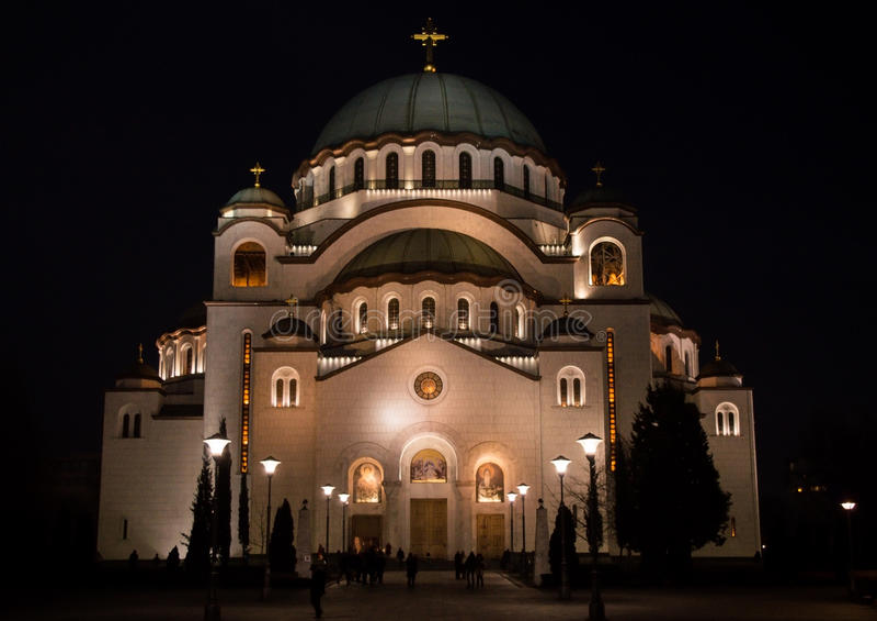 Tempio del ` s della st Sava immagine stock