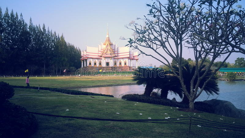 Tempio del tempio di Kum non o di Wat Pho Toh immagine stock