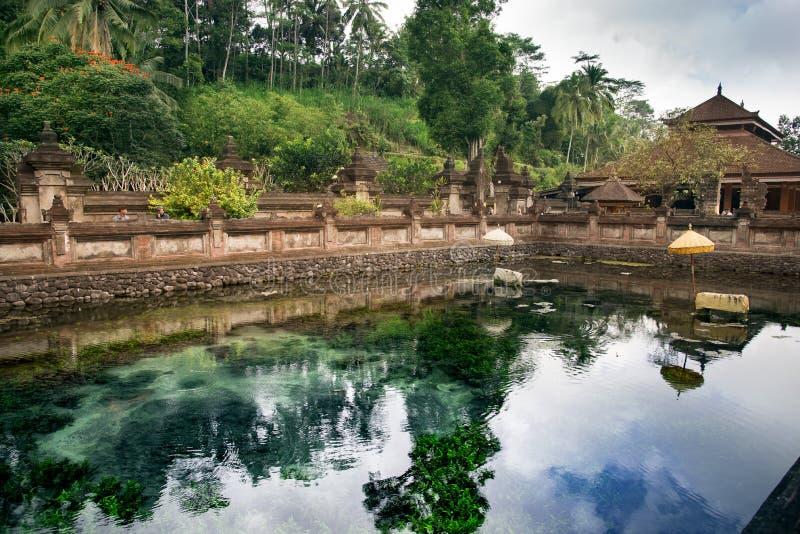 Tempio dell'acqua santa di Goa Gajah immagine stock libera da diritti