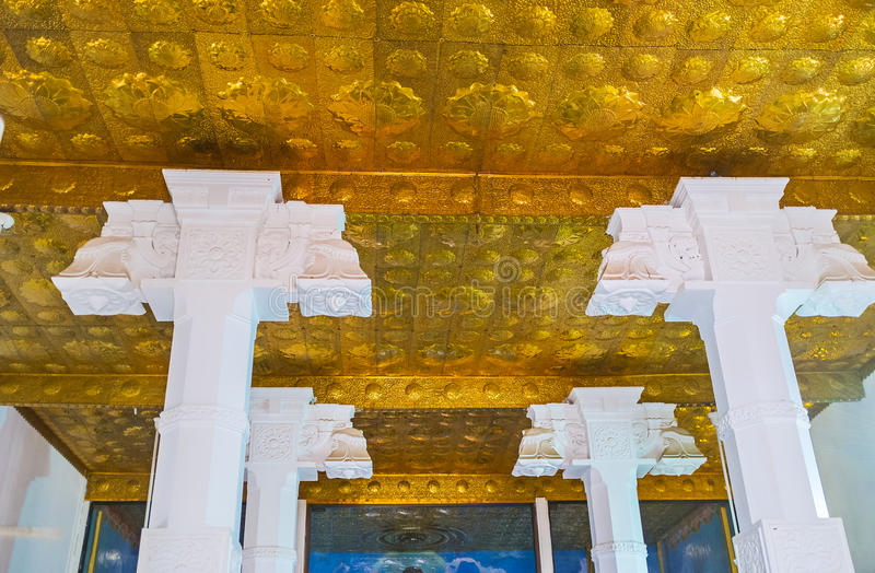 In tempio dell'albero di Bodhi fotografie stock
