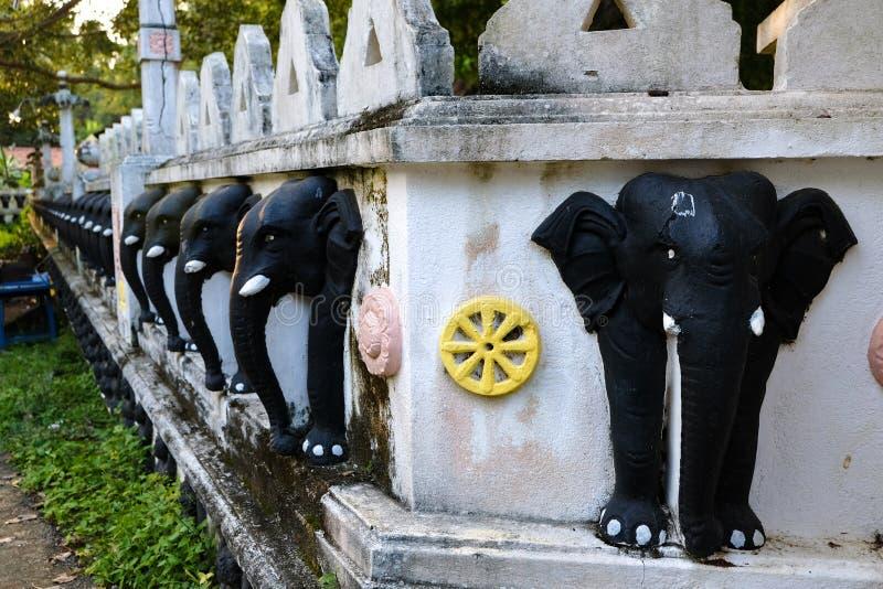 Tempio dell'elefante dello Sri Lanka immagini stock libere da diritti