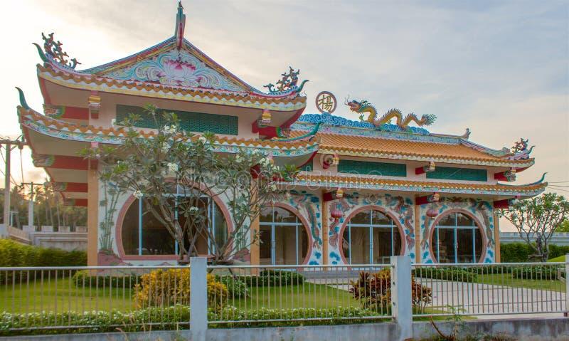Tempio della Cina in Chaweng, Samui, Tailandia immagine stock