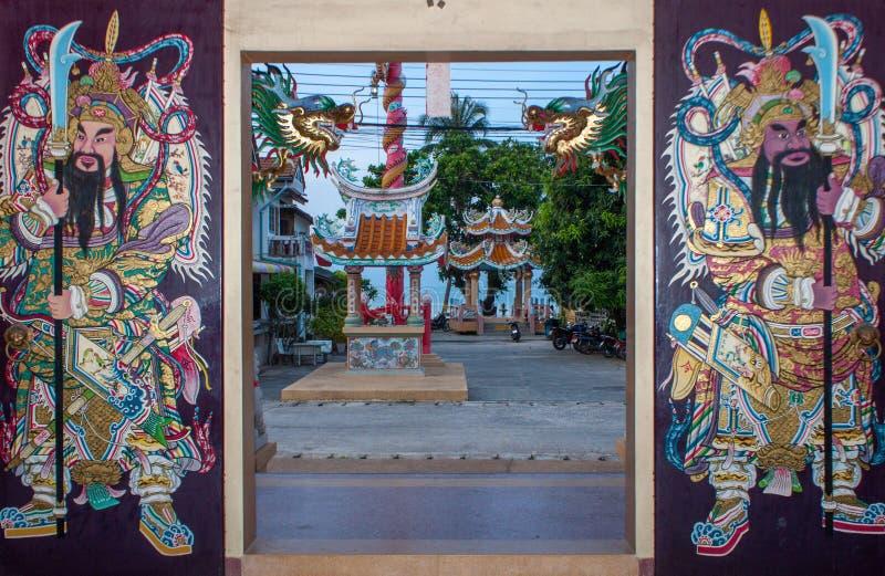 Tempio della Cina in Mae Nam, Koh Samui, Tailandia immagine stock libera da diritti