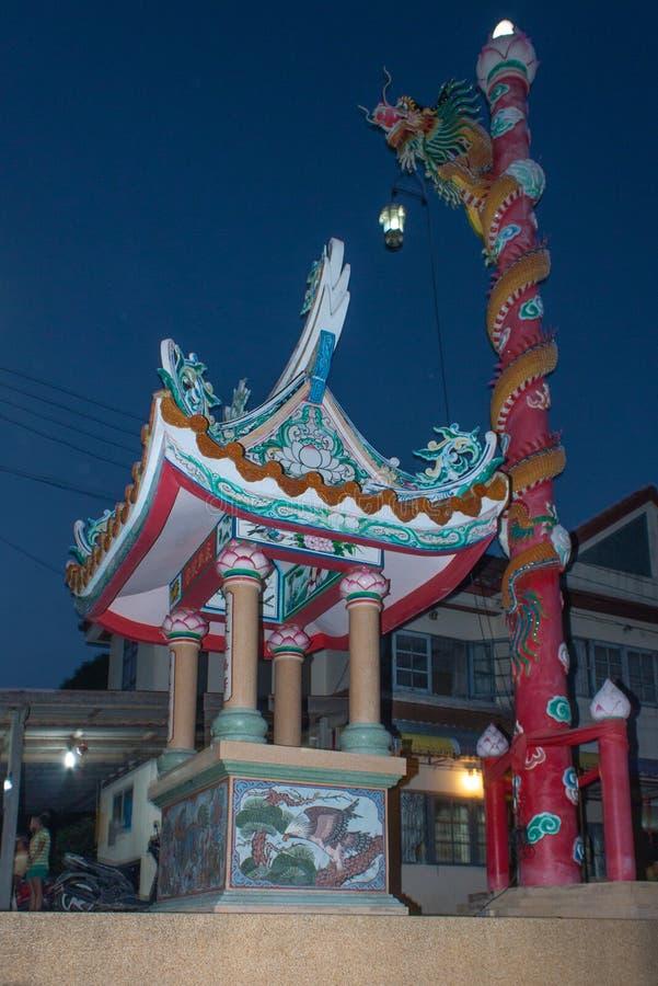 Tempio della Cina in Mae Nam, Samui, Tailandia immagini stock libere da diritti