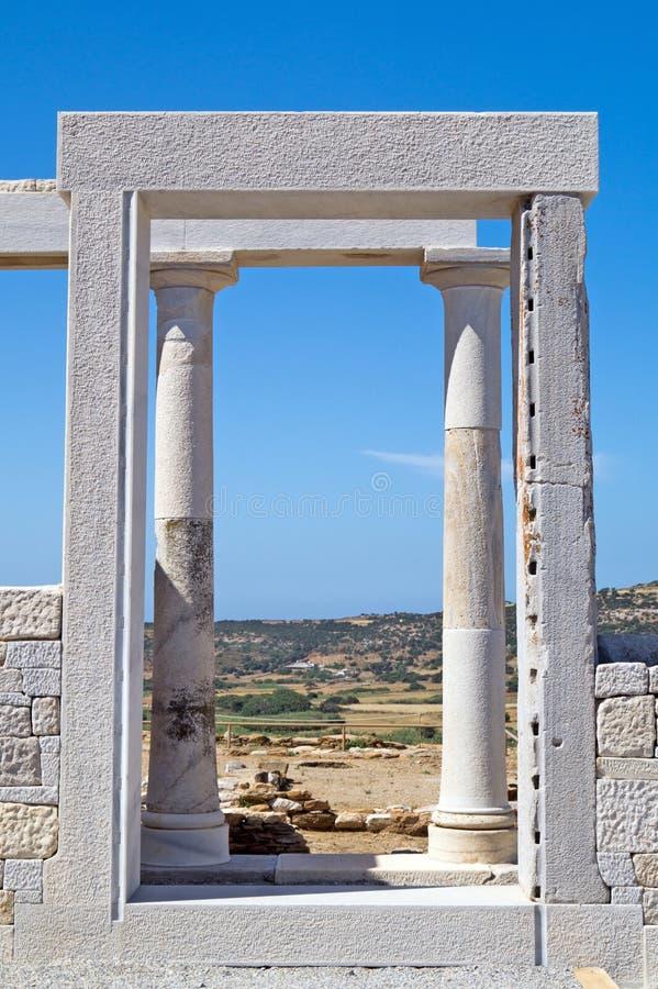 Tempio della demetra, isola di Naxos immagini stock libere da diritti