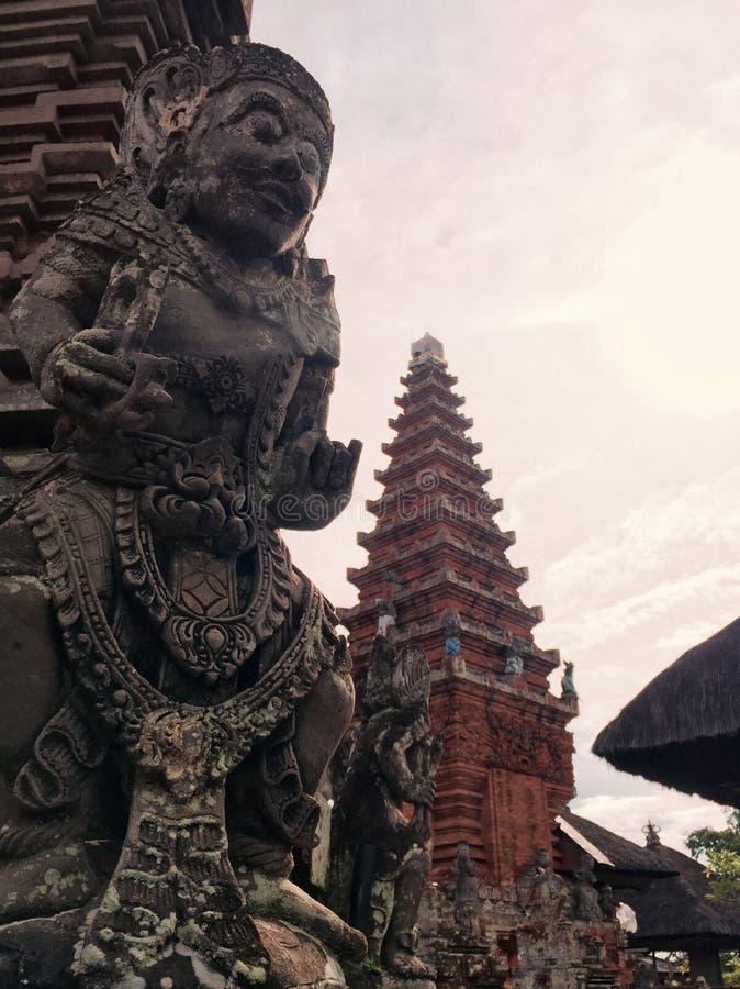 Tempio della statua di Bali fotografie stock