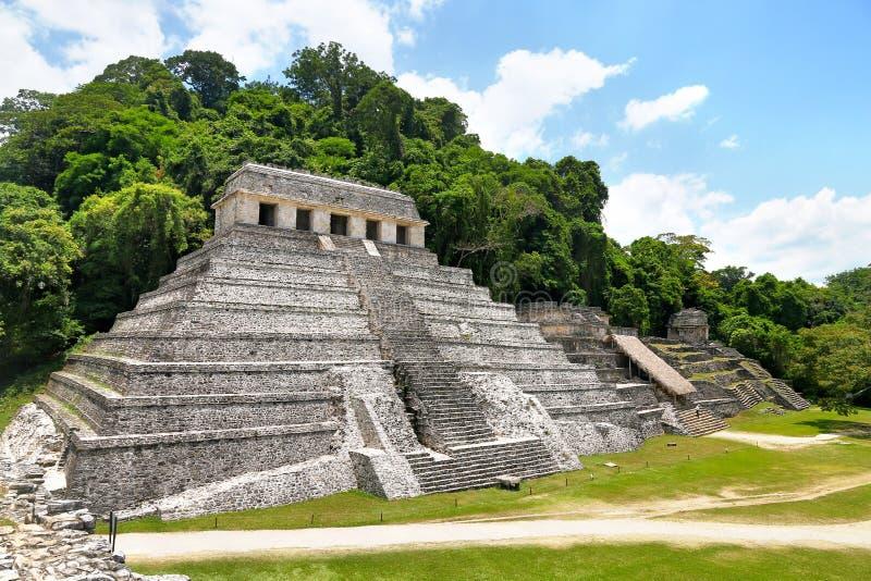 Tempio delle iscrizioni in Palenque, Messico fotografia stock libera da diritti