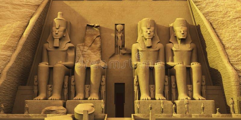 Tempio di Abu Simbel fotografia stock libera da diritti