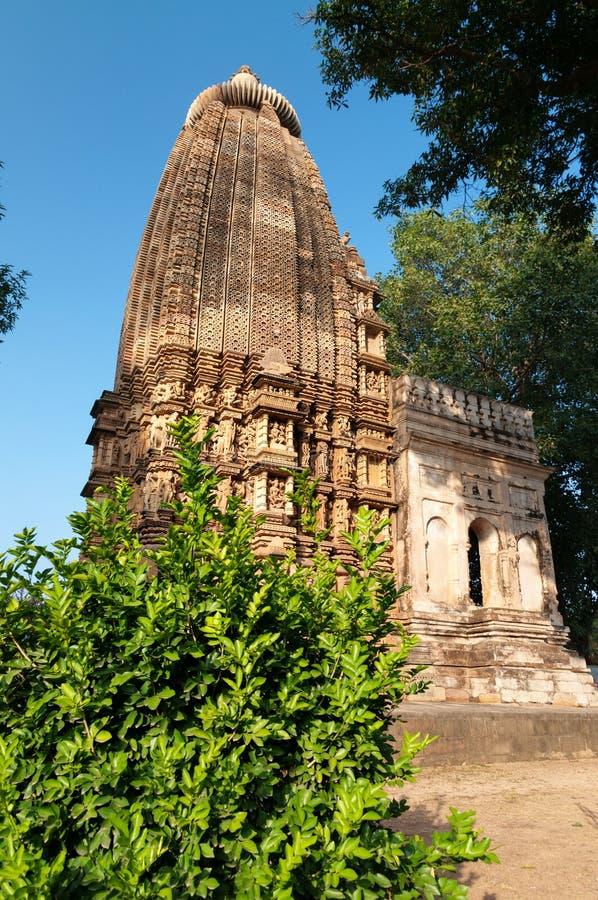 Tempio di Adinath Tempie Jain di Khajuraho fotografia stock