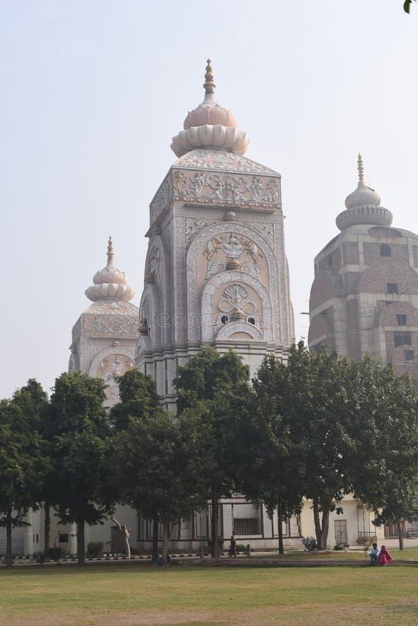 Tempio di Agroha Dham, un tempio indù molto famoso in Agroha, Haryana, India fotografia stock