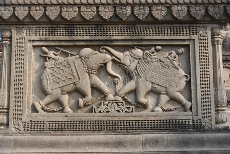 Tempio di Ahilyeshwar, Maheshwar, Madhya Pradesh fotografia stock libera da diritti