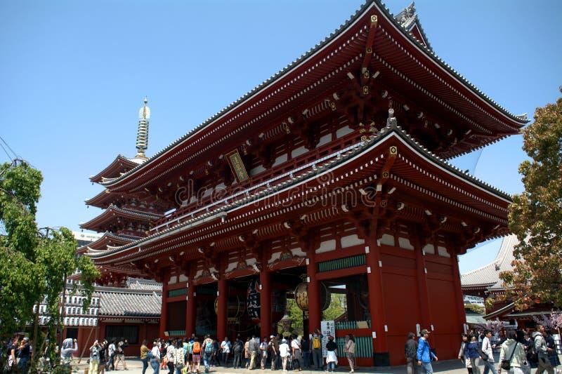 Tempio di Asakusa Senso, Tokyo, Giappone fotografie stock libere da diritti