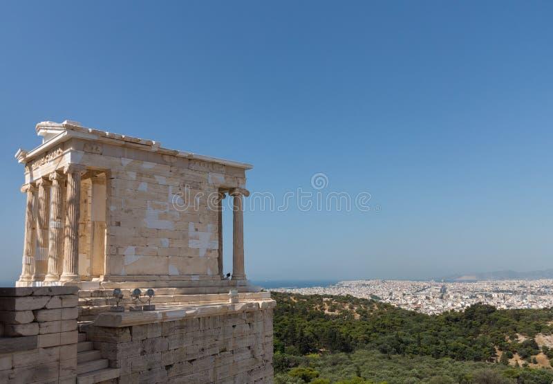 Tempio di Athena Nike Acropolis Athens fotografia stock libera da diritti