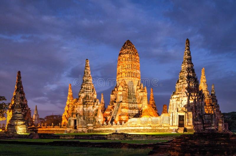 Tempio di Ayutthaya (Tailandia) Wat Chaiwatthanaram fotografia stock libera da diritti