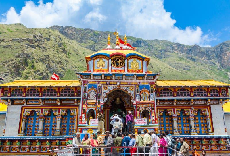 Tempio di Badrinath, Uttarakhand, India immagini stock libere da diritti