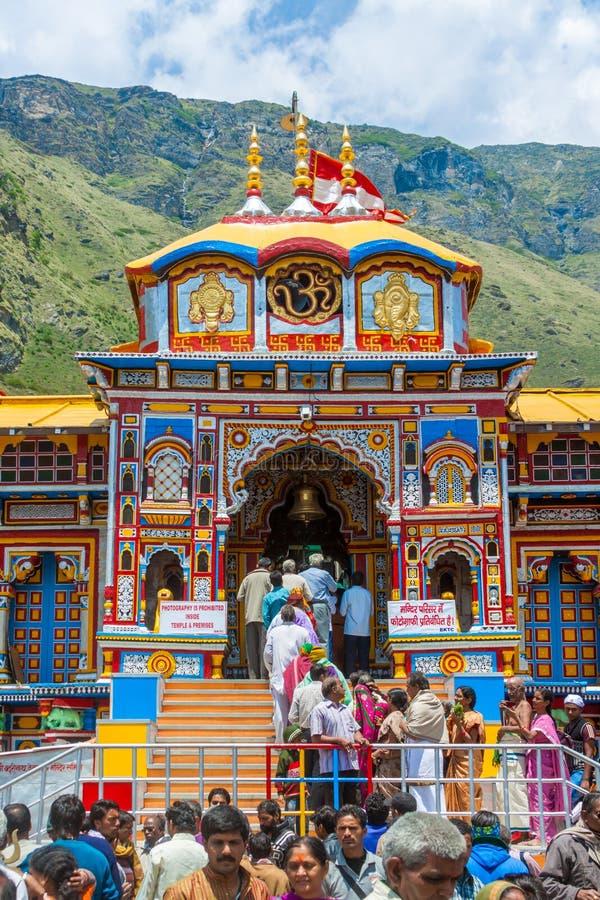 Tempio di Badrinath, Uttarakhand, India immagini stock