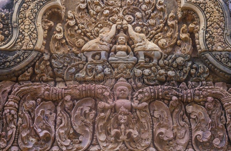 Tempio di Banteay Srei in Cambogia immagine stock libera da diritti