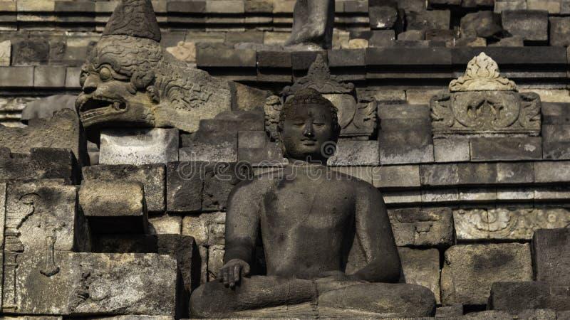 Tempio di Bodobudur Buddist in Jogja immagini stock libere da diritti