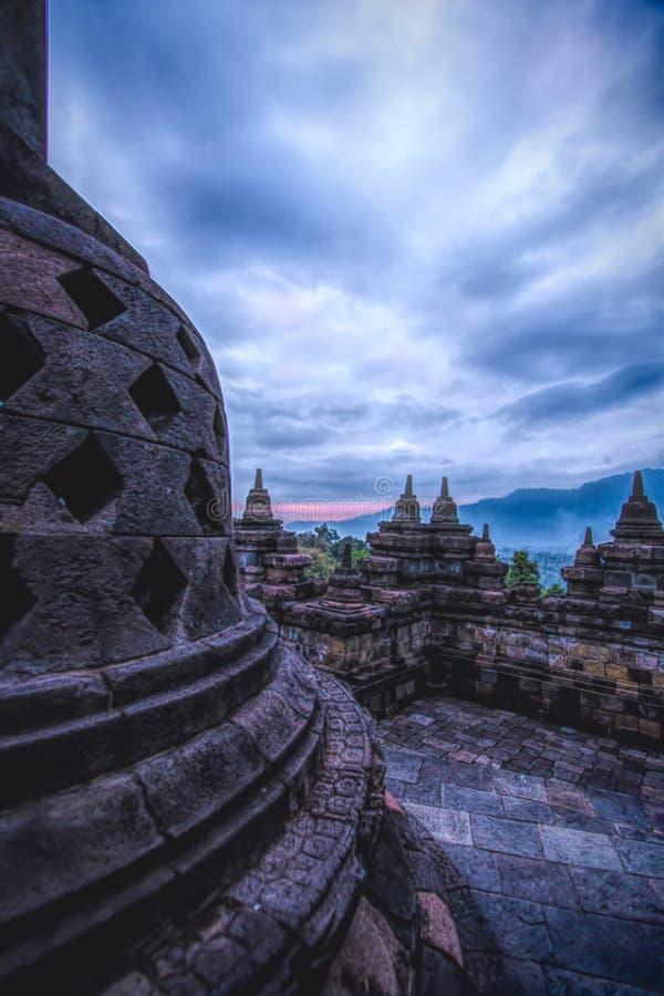Tempio di Borobudhur - Yogyakarta - Indonesia, Unesco fotografia stock libera da diritti