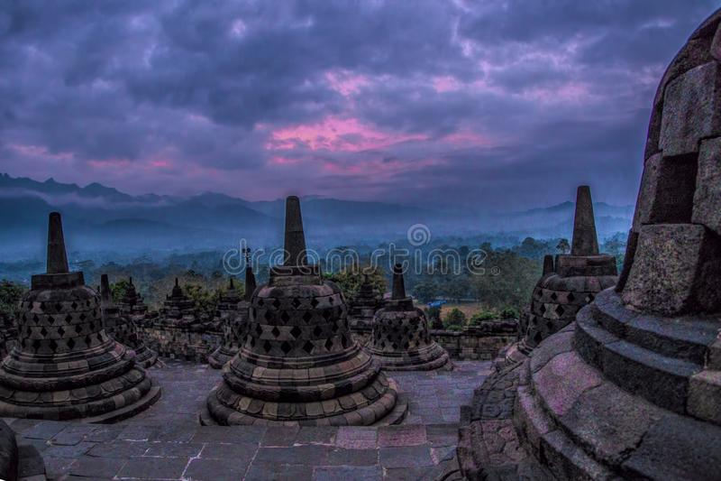 Tempio di Borobudhur - Yogyakarta - Indonesia, Unesco fotografie stock