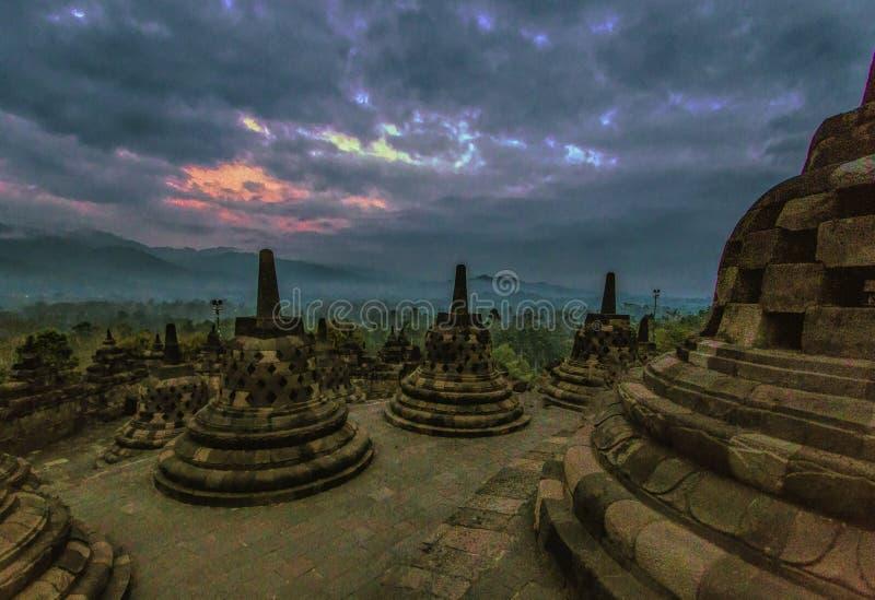 Tempio di Borobudhur - Yogyakarta - Indonesia, Unesco immagine stock