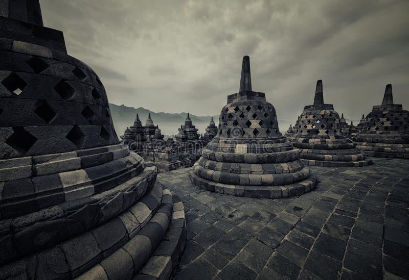 Tempio di Borobudur in Java fotografia stock libera da diritti