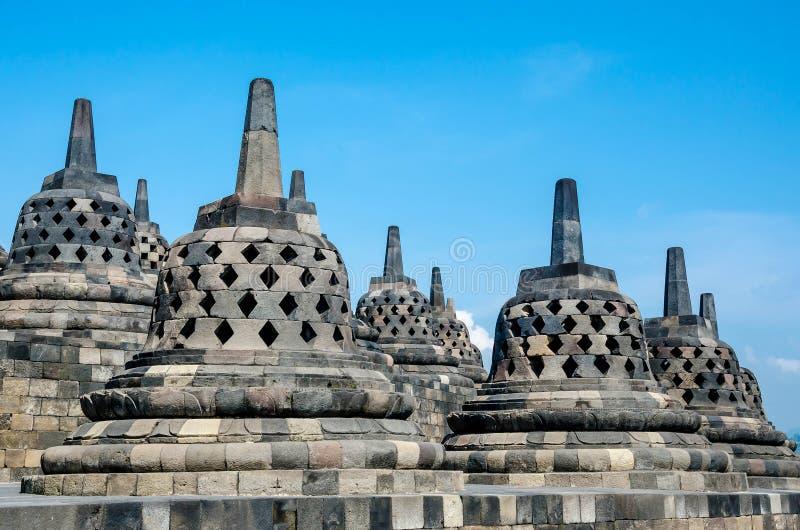 Tempio di Borobudur, Java centrale, Yogyakarta, Indonesia fotografie stock libere da diritti