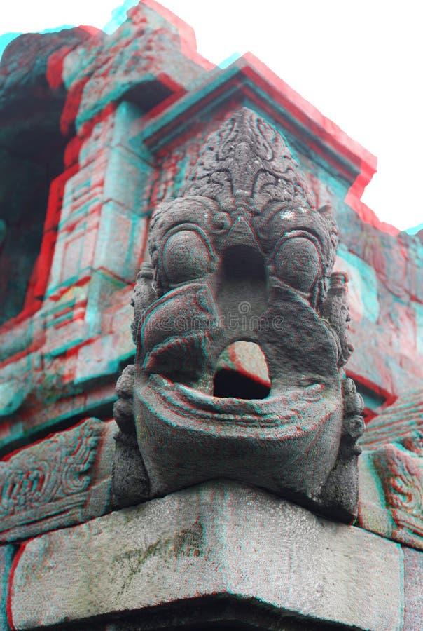 Tempio di Borobudur nella stereotipia fotografie stock