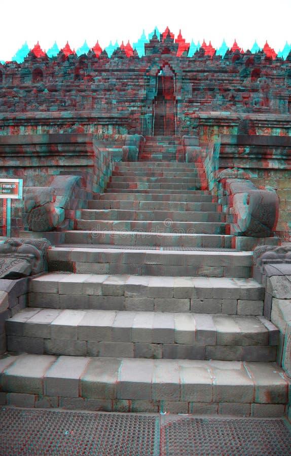 Tempio di Borobudur nella stereotipia immagini stock