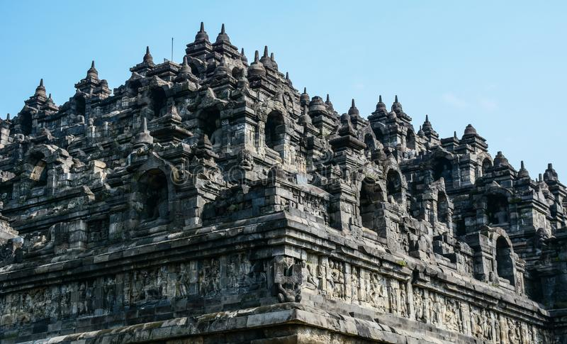 Tempio di Borobudur su Java Island, Indonesia fotografie stock libere da diritti