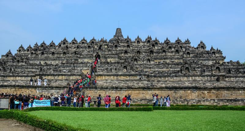 Tempio di Borobudur su Java Island, Indonesia fotografia stock