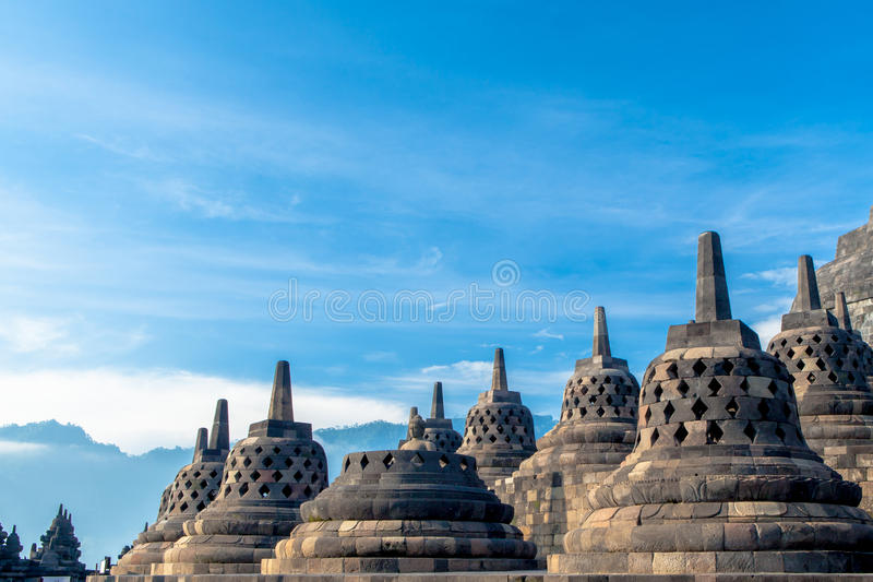 Tempio di Borobudur, Yogyakarta, Java, fotografia stock
