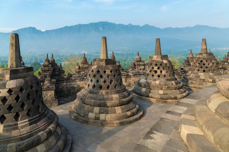 Tempio di Borobudur, Yogyakarta, Java fotografia stock libera da diritti
