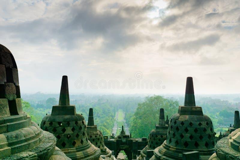 Tempio di Borobudur a Yogyakarta, Java, Indonesia fotografia stock