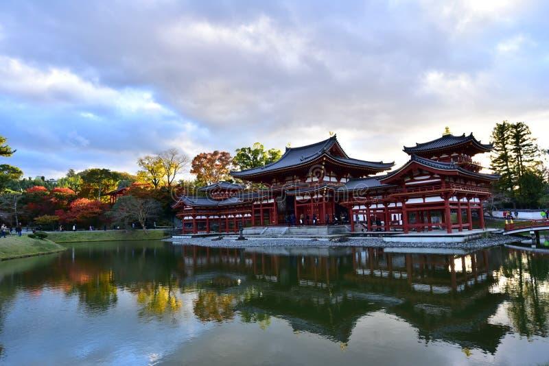 Tempio di buddismo, Byodoin a Kyoto, Giappone fotografia stock libera da diritti