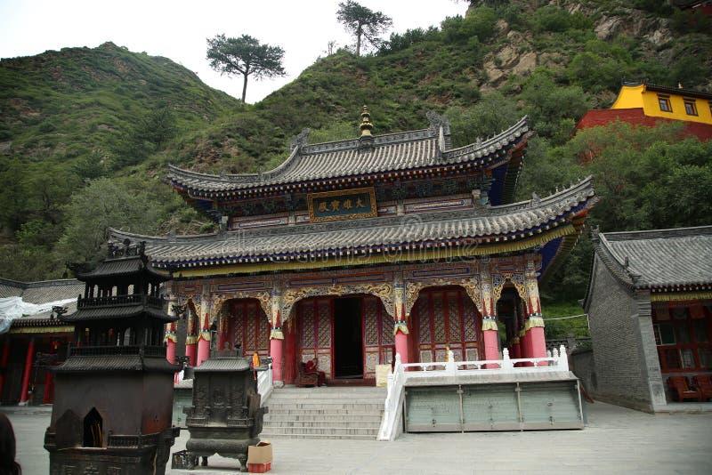 Tempio di buddismo in montagna di Wutai fotografia stock libera da diritti