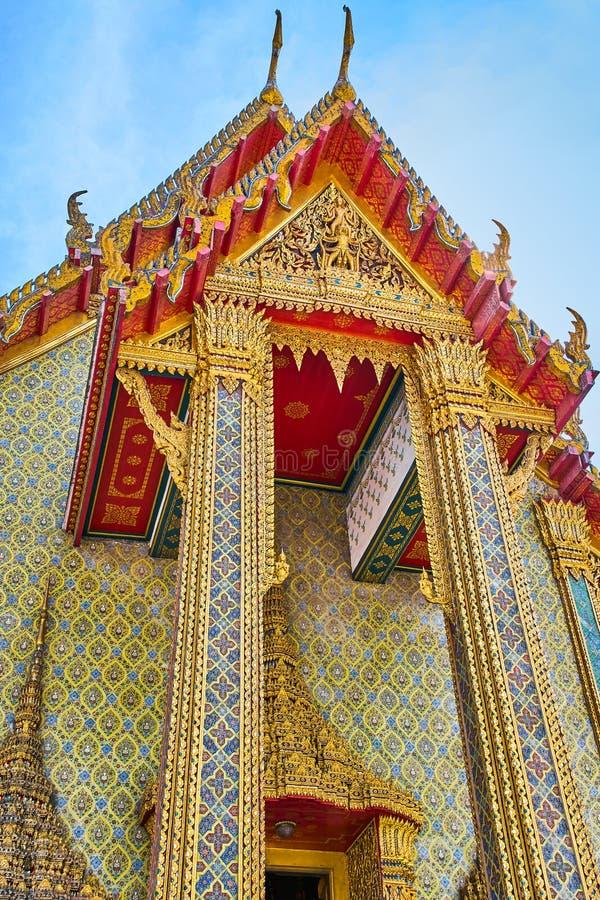 Tempio di buddist di Wat Ratchabophit a Bangkok fotografie stock libere da diritti