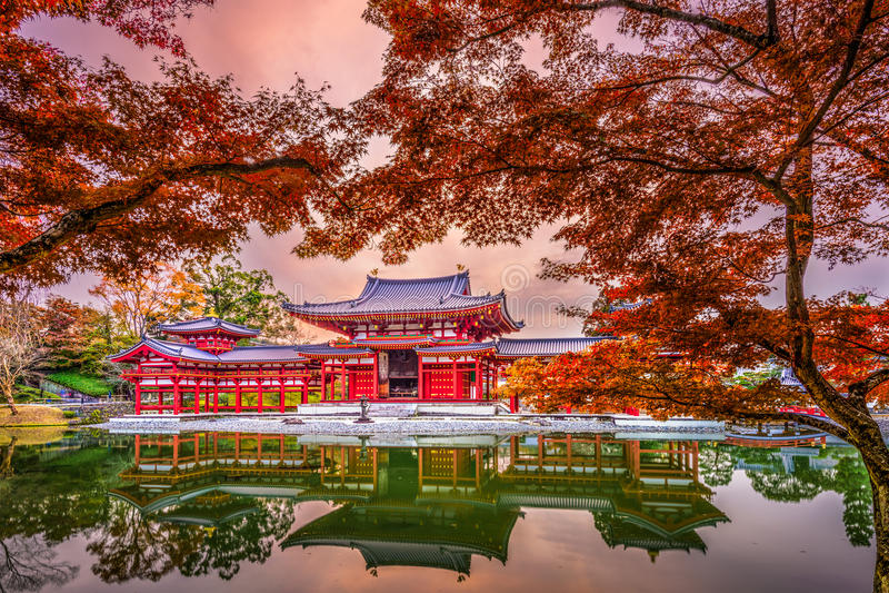 Tempio di Byodoin a Kyoto fotografie stock libere da diritti