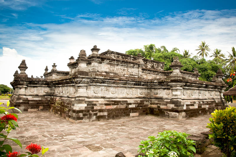 Tempio di Candi Penataran in Blitar, East Java, Idonesia. fotografia stock libera da diritti