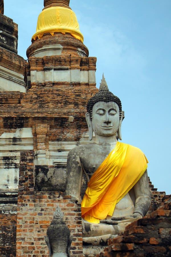 Tempio di Chaimongkol in Tailandia immagini stock libere da diritti