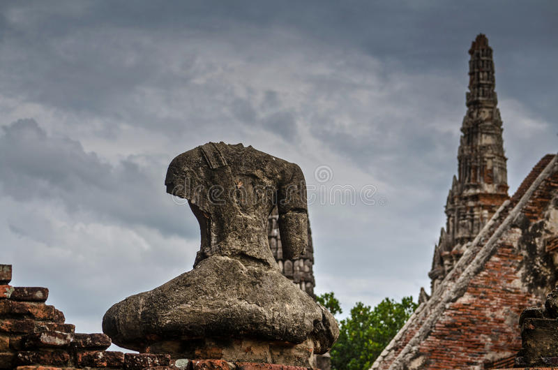 Tempio di Chaiwatthanaram a Ayutthaya, Tailandia fotografie stock